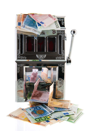 Slot machine with European currency photo