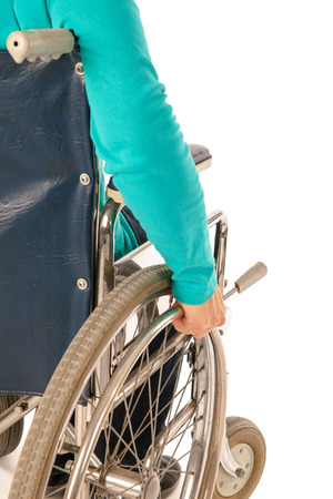Person riding in wheelchair