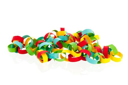 colorful festive paper chain