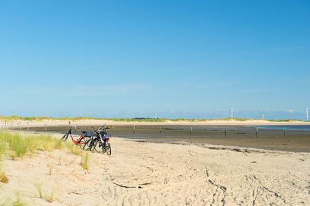 Low tide at te beach at German wadden island Borkum photo