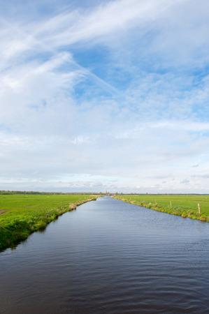 polder: Landscape with ditch in dutch polder Arkemheen