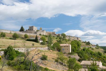 provencal: Village Vercoiran in French Drome Provencal Stock Photo