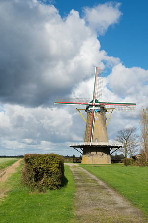 Dutch windmill De Korenbloem in Zonnemaire zeeland photo