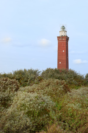 Lighthouse Westhoofd in Ouddorp at Dutch Zeeland