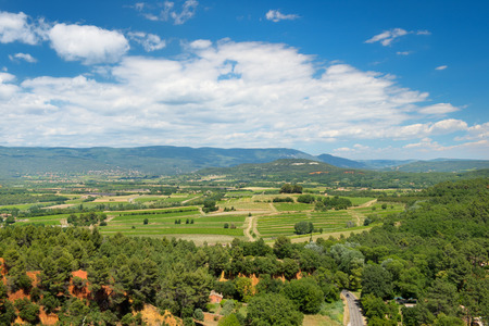 the luberon: Landscape in French Luberon with clouds in summer