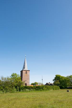 hoon: sint Jans church at Dutch wadden island Terschelling in village Hoorn