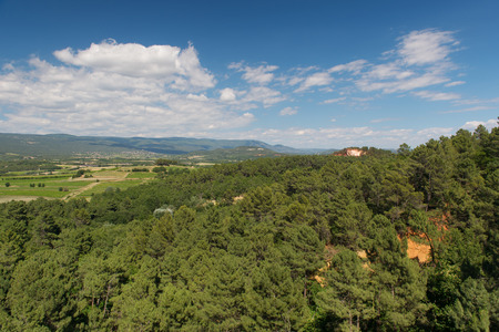 the luberon: Landscape in French Luberon with ocher