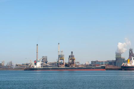 ijmuiden: Industrial sea harbor in Holland IJmuiden Editorial