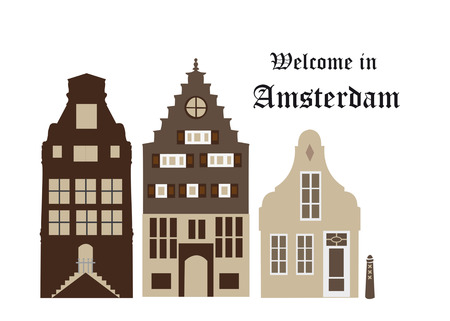 welcom: Facades from houses in Amsterdam