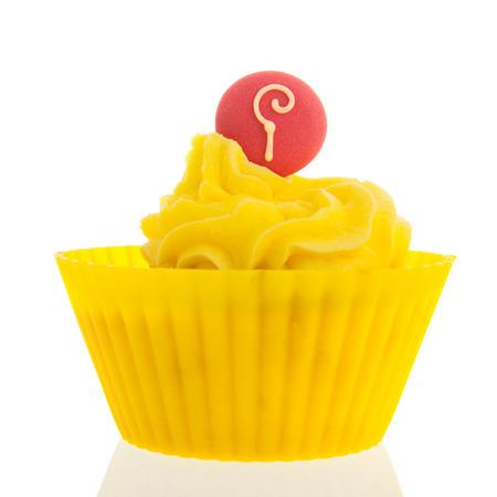 sinterklaas: Dutch cupcake for Sinterklaas holidays isolated over white background