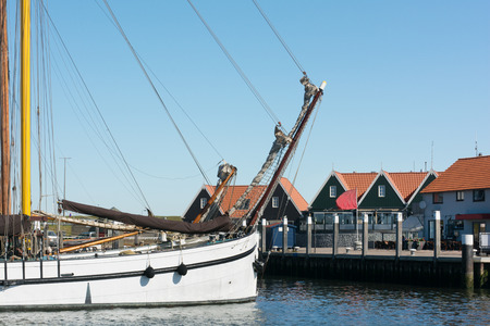wadden: Small harbor in Oudeschild at Dutch wadden island Texel Stock Photo