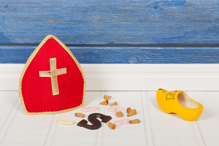 sinterklaas: Traditional candy for typical Dutch Sinterklaas holidays Stock Photo