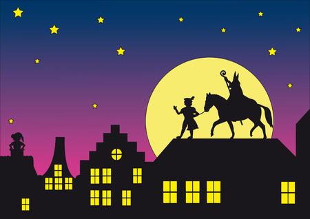 Typical Dutch Sinterklaas Vettoriali