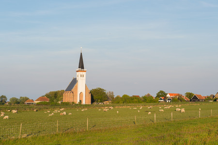 hoorn: Dutch wadden island Texel with village Den Hoorn
