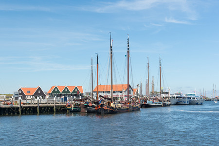 texel: Small harbor in Oudeschild at Dutch wadden island Texel Stock Photo