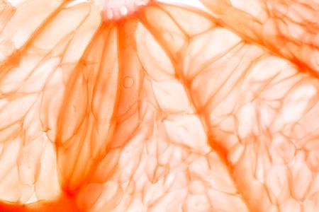 toronja: Fondo de transparente fresca rebanada de pomelo Foto de archivo