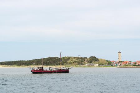 wadden: Village and harbor of Dutch wadden island Terschelling
