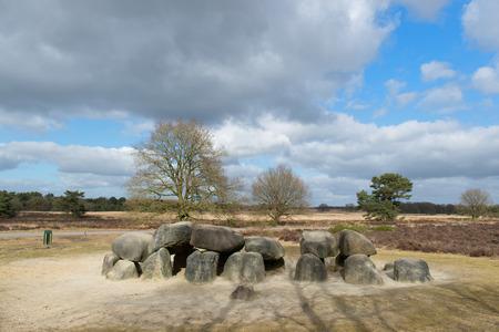 moorland: Dolmen at moorland in Holland