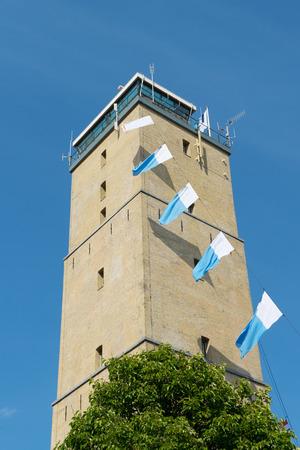 wadden: Lighthouse the Brandaris on Dutch wadden island Terschelling Stock Photo