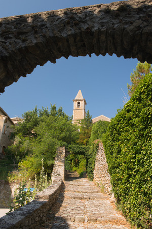 aux: Church of village mirabel aux baronnies in the French Drome Stock Photo