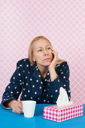 depressive: Depressive woman in the night Stock Photo