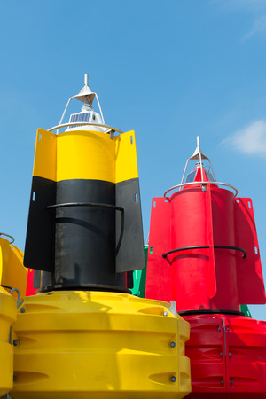 starboard: Colorful buoys for navigation in the sea