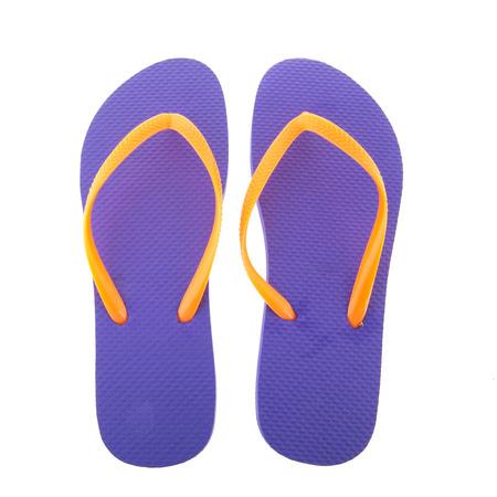 flipflops: purple flipflops for the summer isolated over white background
