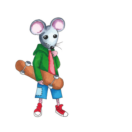 the series: From the series mouse - teen with skateboard
