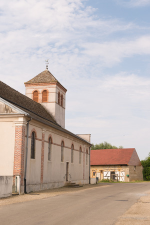 Little church in French village Lays sur le doubs