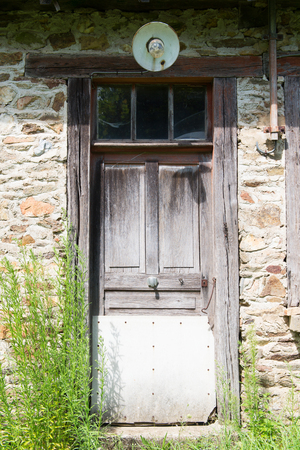 front house: Front door of inhabitable French house Stock Photo