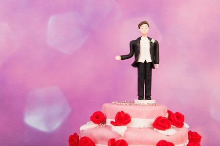 topper: Figurine man alone at the wedding cake