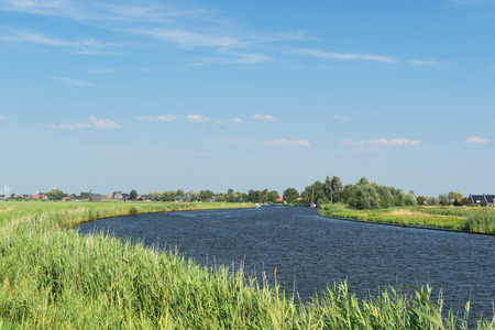Typical Dutch landscape with river