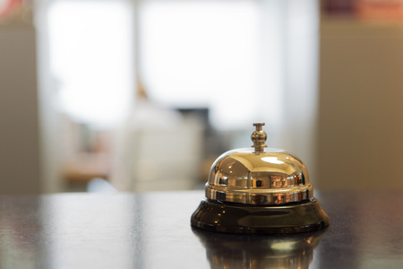 hotel staff: Classic hotel bell to call the staff