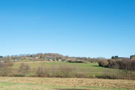 limousin: Landscape French Limousin with small village