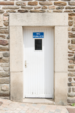 public toilet: Door of public toilet