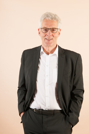 dressed: Formally dressed Senior business man Stock Photo