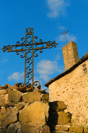 ironwork: Metal cross from ironwork at castle