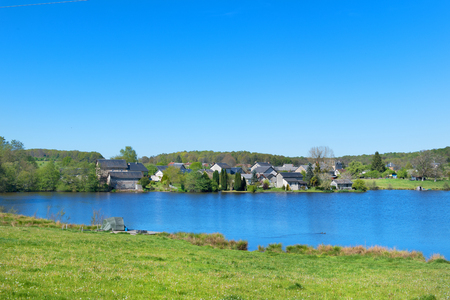 Landscape with lake in French Limousin