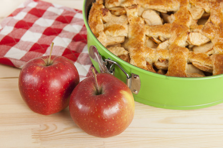 Home made apple pie with fresh apples