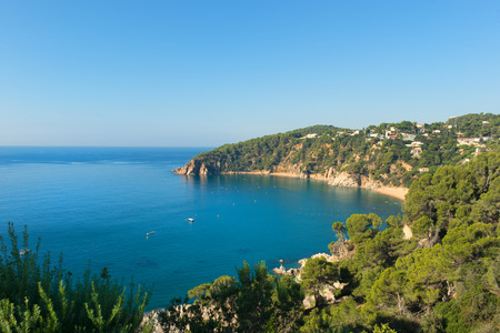 Landscape at coast in Spanish Costa Brava Stock Photo