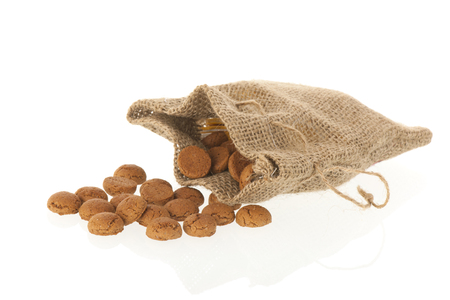 Bag with Dutch ginger nuts for typical Sinterklaas holidays
