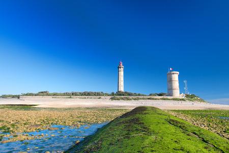 Lighthouse Phares des Baleines on island Ile de Ré at the French west coast Reklamní fotografie