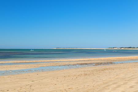 Ile de Ré - Beach cart at La Couarde sur mer Stockfoto