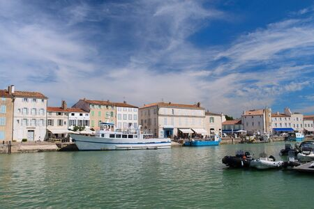 Harbor with recreation boats in French Saint-Martin-de-Re