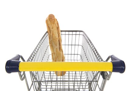 Shopping cart with single bread for the poor people