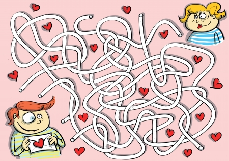 which: Valentines Maze Game