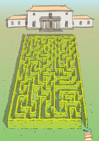 mind games: Hedge Maze Game Paisaje con soluci�n en la capa oculta