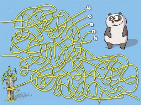 Panda Maze Game ... mit L�sung: B Illustration