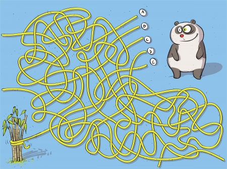 hand knot: Panda Maze Game ... with solution: B