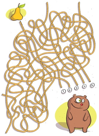 knotty: Bear Maze Game ... Solution No. 4